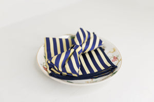 Royal Blue and Yellow Stripe  Bow Tie