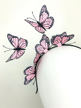 Load image into Gallery viewer, Light Pink Butterfly Fascinator