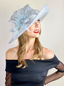 Light Blue Kentucky derby Hat