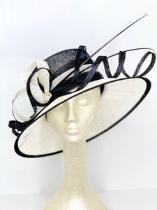 black and Ivory Derby Hat