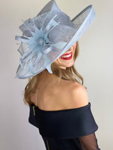 Load image into Gallery viewer, Light Blue Kentucky derby Hat
