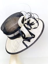 Load image into Gallery viewer, black and Ivory Derby Hat
