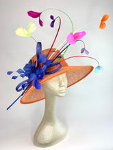 Load image into Gallery viewer, Orange & Royal Blue Derby Hat