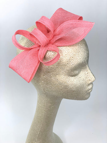 Pink Fascinator, Womens Tea Party Hat, Church Hat, Kentucky Derby Hat, Fancy Hat, Pink Hat, Tea Party Hat,wedding hat