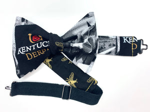 Kentucky Derby Theme Mens Reversible Bow Tie