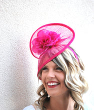 Load image into Gallery viewer, Pink Fascinator, Tea Party Hat, Church Hat, Kentucky Derby Hat, Fancy Hat, Pink Hat, Tea Party Hat, wedding hat, British Hat
