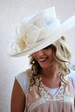 Load image into Gallery viewer, Ivory Derby Hat