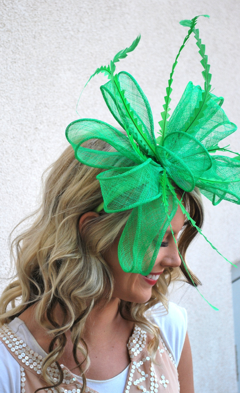 Kelly Green Fascinator
