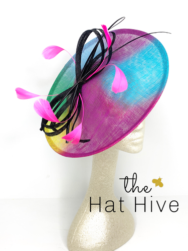 Neon Graffiti Fascinator