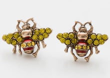 Load image into Gallery viewer, VINTAGE PEARL BEE EARRINGS