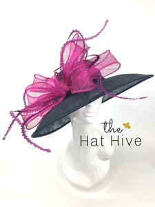 BLACK & MAGENTA DERBY HAT