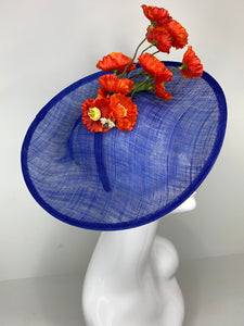 ORANGE POPPY FASCINATOR
