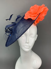 Load image into Gallery viewer, Navy Blue & Coral Rose Hatinator