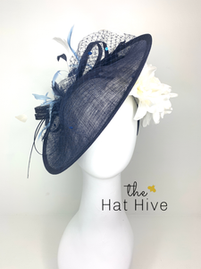 Navy Blue and White Bloom Hatinator