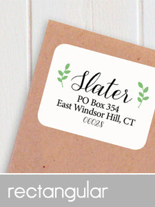 rectangular address labels