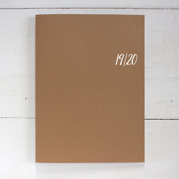 2019 / 2020 large monthly academic planner | 2 pages per month