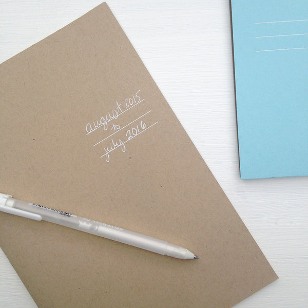 undated kraft monthly planner