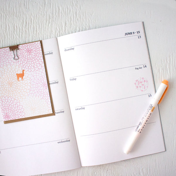 2019 6x9 weekly planner booklets