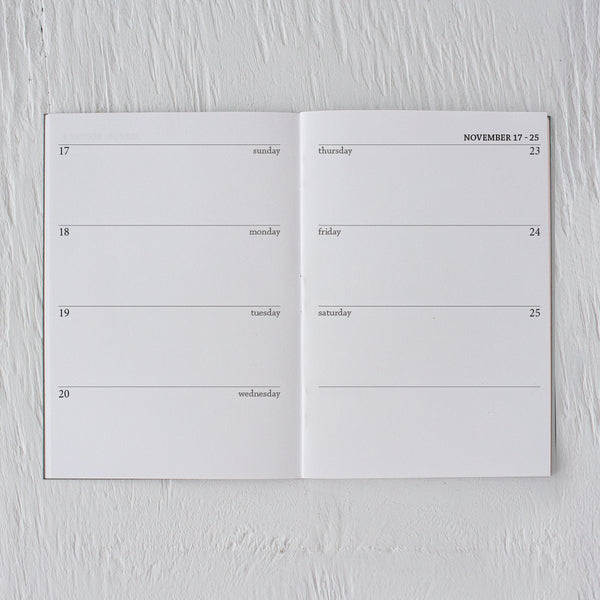 2019 mini weekly planner booklets