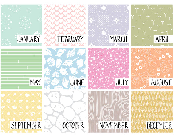 2019 patterned wall calendar
