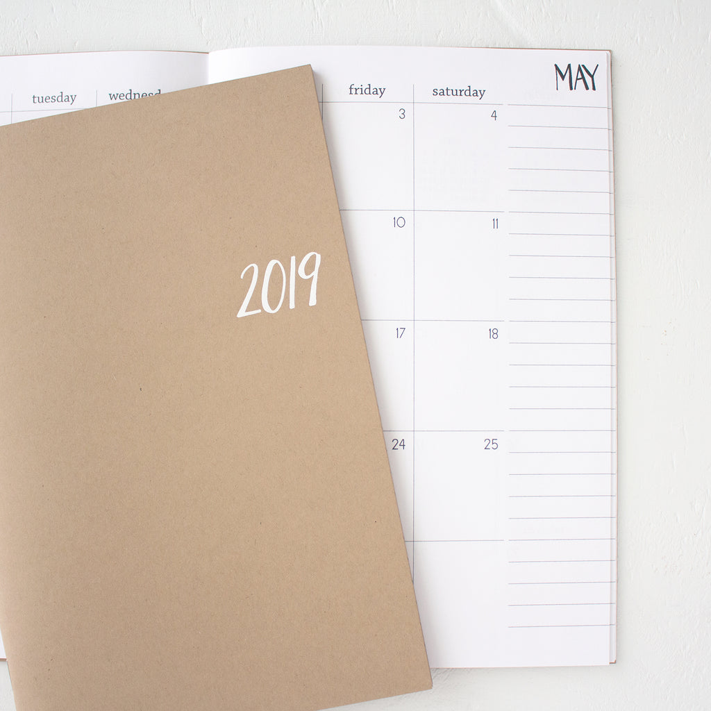 2019 basic monthly planner