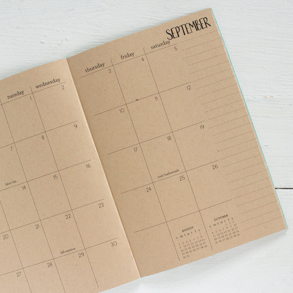 2020 kraft monthly planner | 2 pages per month
