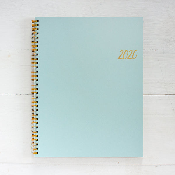 2020 large kraft monthly spiral planner | 2 pages per month