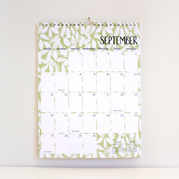 2020 patterned wall calendar