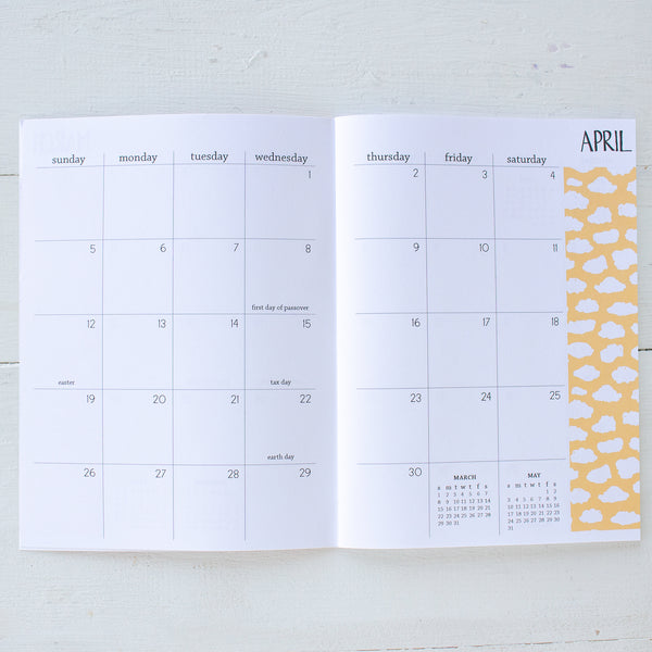 2020 monthly pattern planner