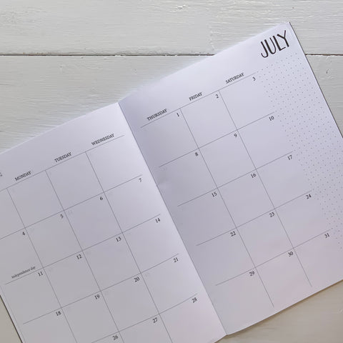 2021 large monthly planner | 2 pages per month