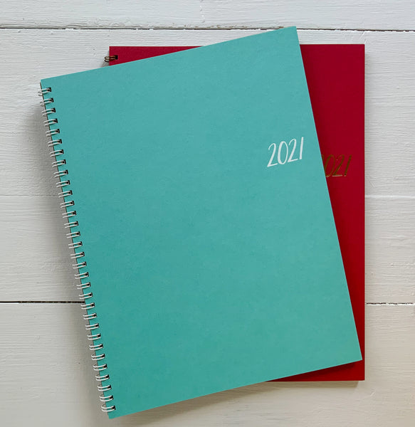 2021 large monthly spiral planner | 2 pages per month