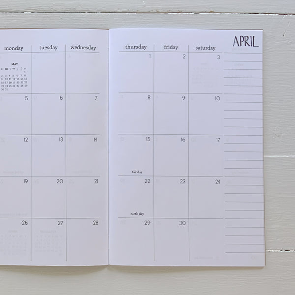 2021 monthly planner | 2 pages per month