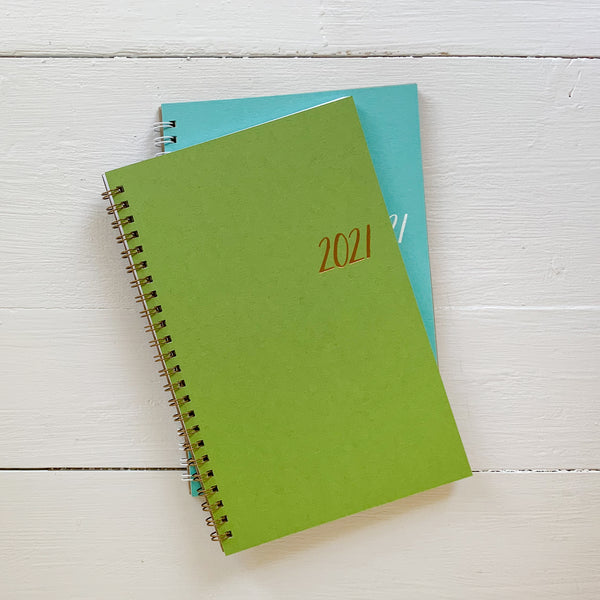 2021 small monthly spiral planner