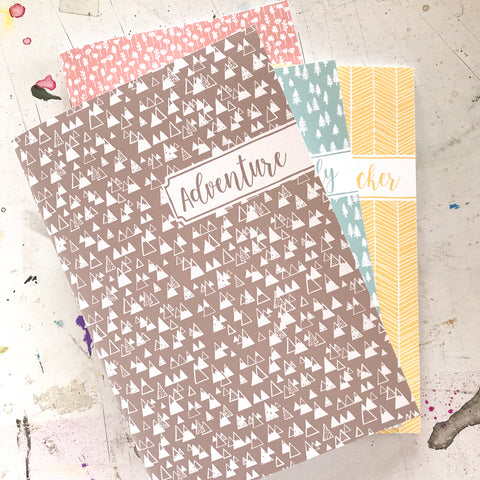 set of 4 personalized notebooks