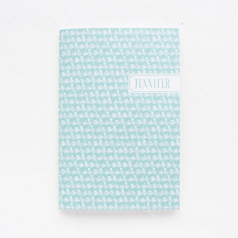 bikes personalized notebook