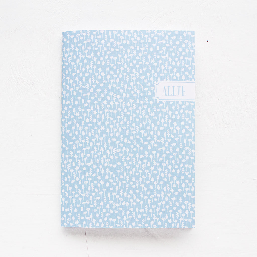 flowers personalized notebook