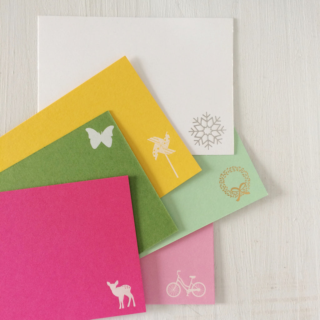 flat foil stamped cards - create your own