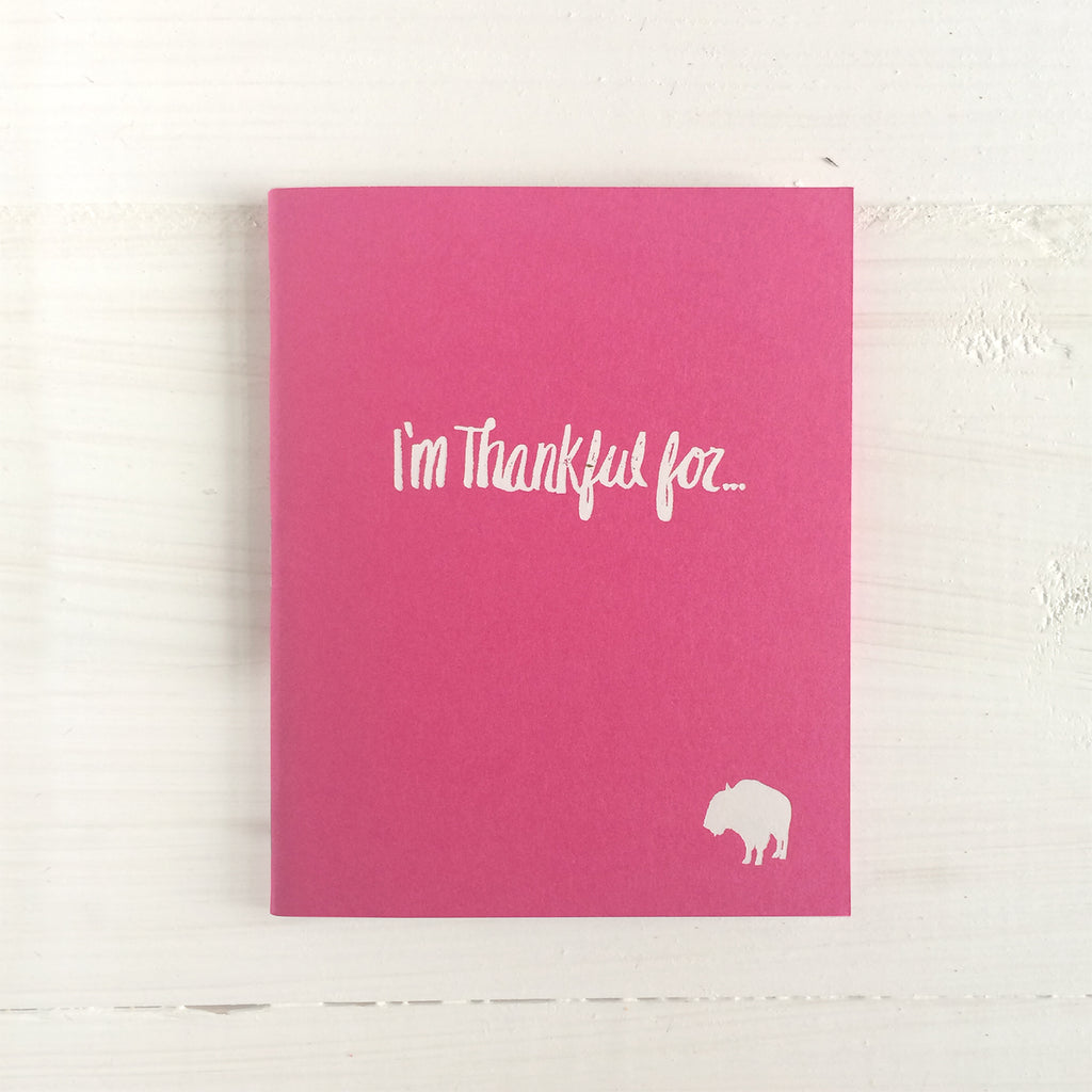 buffalo i'm thankful for pressed pocket journal