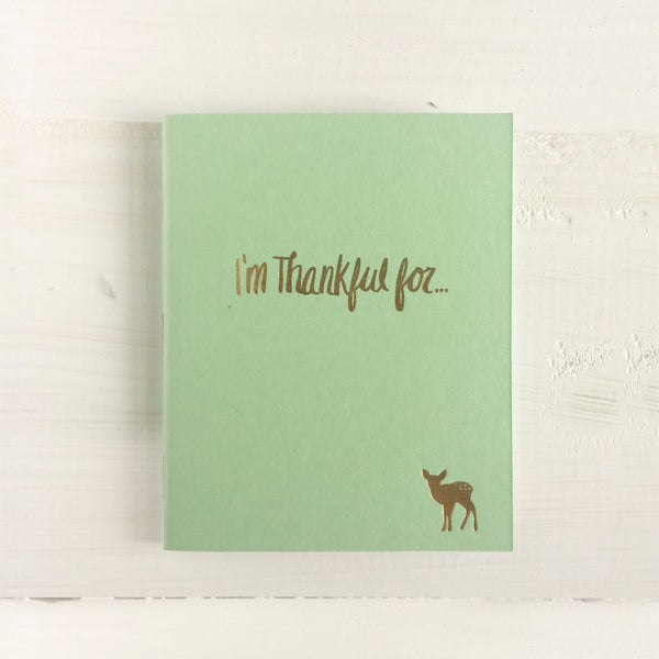deer i'm thankful for pressed pocket journal