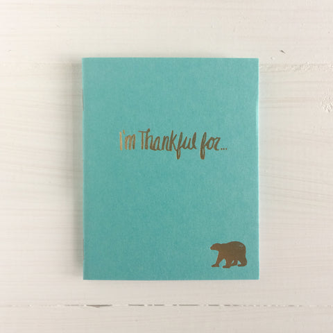 polar bear i'm thankful for pressed pocket journal