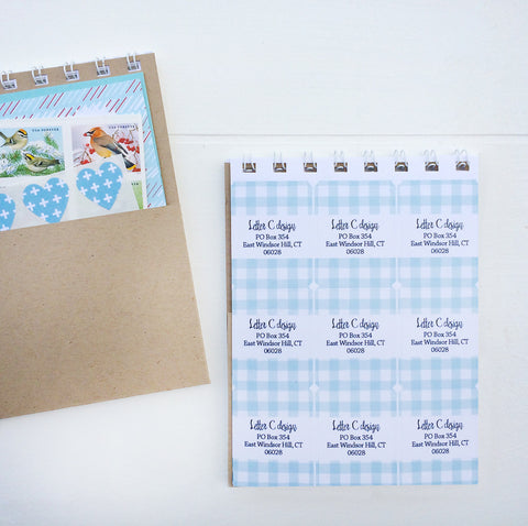 dots and lines assorted address label book
