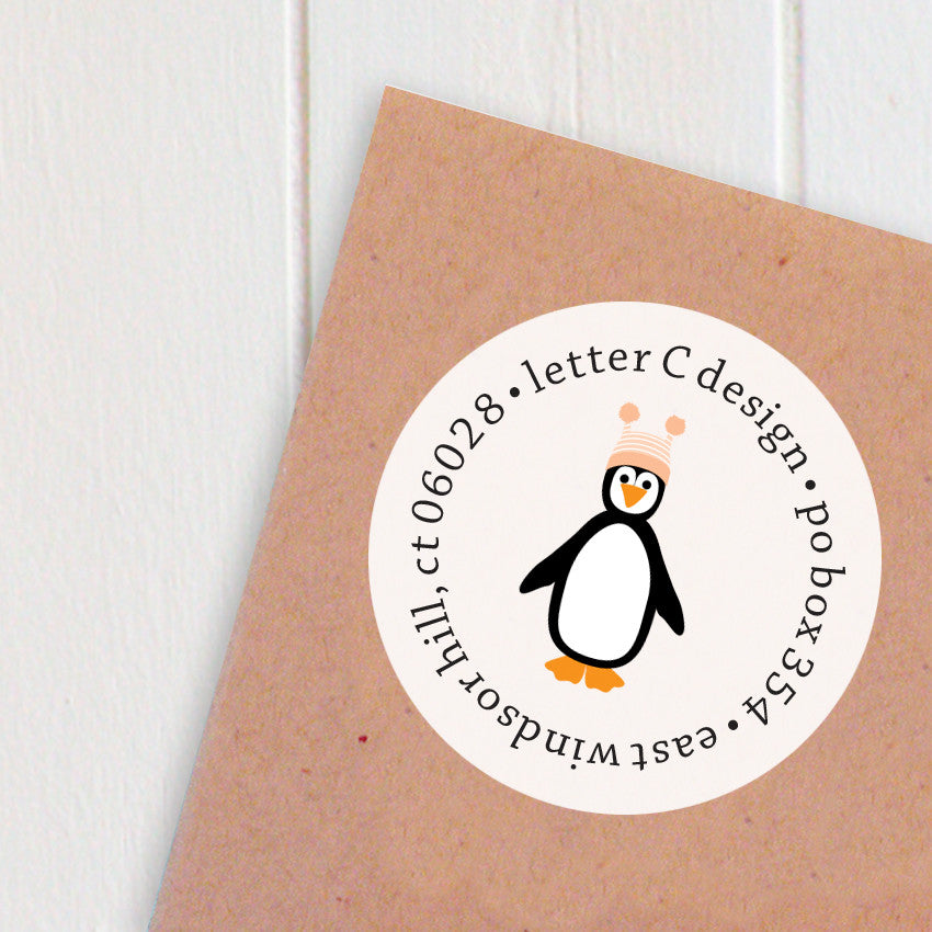 address labels chilly penguins