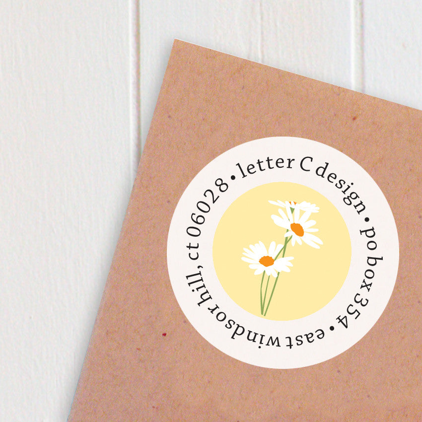 address labels daisies
