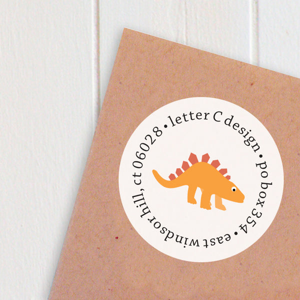address labels dinosaurs