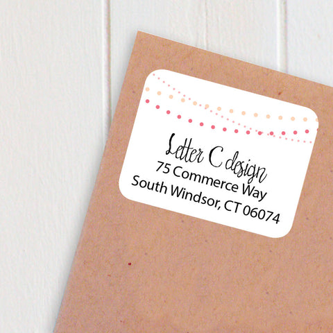 address labels festive strings