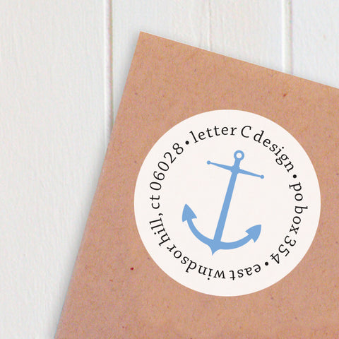 address labels nautical