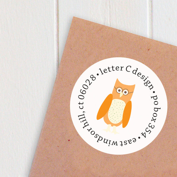 address labels wise little owls