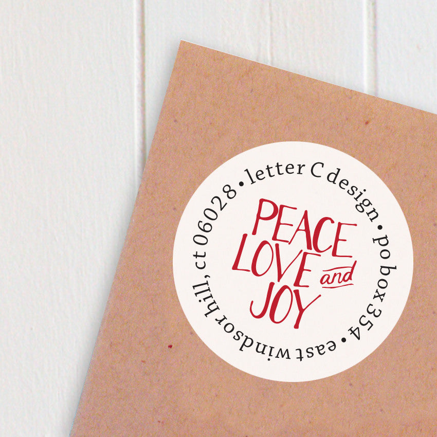 address labels peace love joy