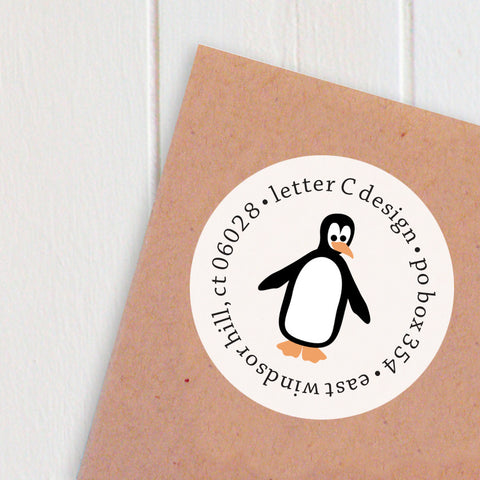address labels penguins