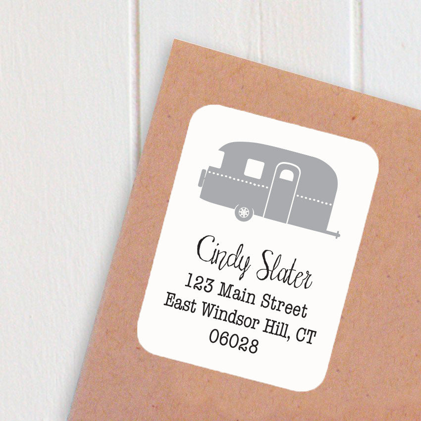 address labels airstream